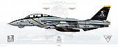 F-14B Tomcat VF-103 Jolly Rogers, AA103 / 163217 / Last Cruise 2004